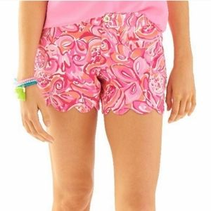 Lilly Pulitzer Buttercup Shorts Pink Mango Salsa 6